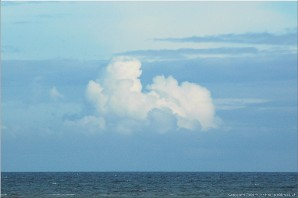 Cloudscape over the Celtic Sea, seen from Pendeen, Cornwall. Photo: cornwall_7238