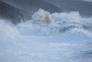 Winter storm at Porthleven