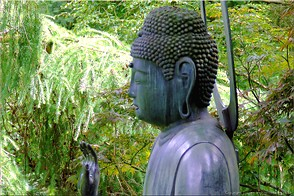 Buddha, Batsford Arboretum, Warwickshire. Photo: Batsford-26074