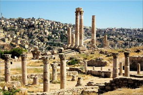 Roman Temple at the Citadel, Amman, Jordan. Photo Amman-13521