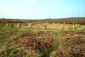 Tregeseal stone circle near St Just