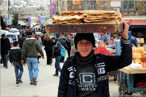 Bread delivery, Hebron, Palestine. Photo Hebron-21866