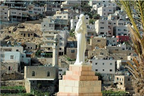 Mary and mosque, Irtas, Bethlehem, Palestine | Btlhm-Irtas_13029
