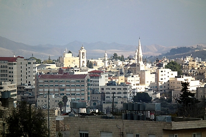 The Old Town of Bethlehem, from Beit Jala