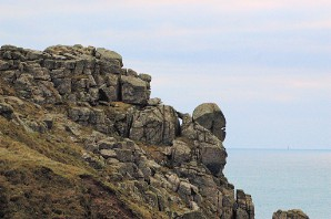 A jumble of beings, Carn Boel, Land's End, Cornwall