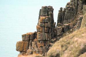 Sentries at Pordenack Point, guarding Britain's Atlantic coast