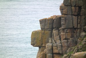 Standing guard against Atlantic incursions, between Carn Boel and Pordenack Point
